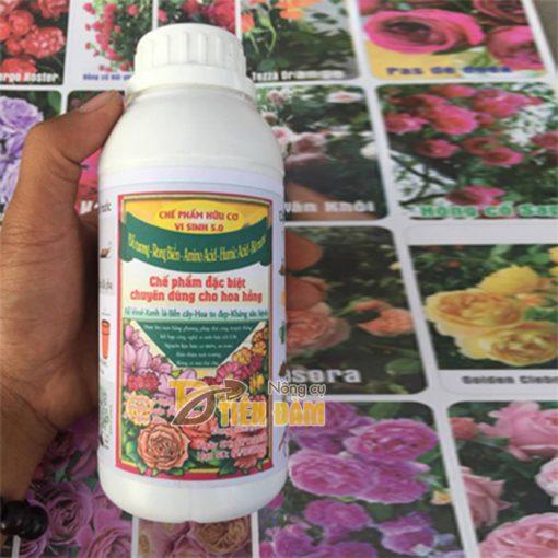 Phân bón dinh dưỡng hữu cơ vi sinh cho hoa hồng 5.0 - T100