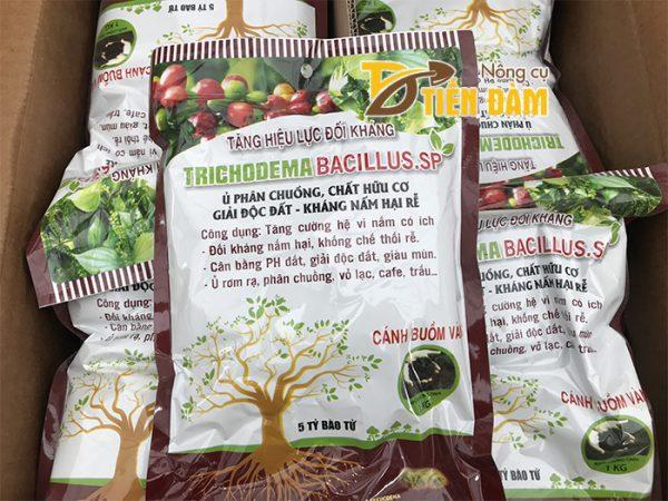 Nấm đối kháng ủ phân TRICHODEMA BACILLUS.SP gói 1kg - T32