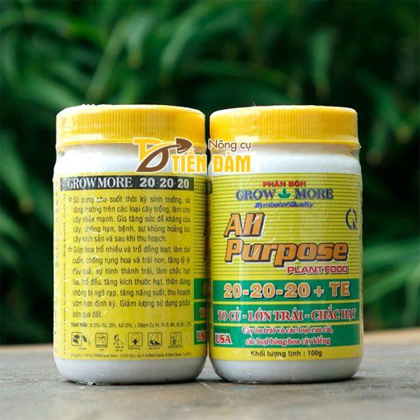 Phân bón dinh dưỡng toàn diện All Purpose 20-20-20 - T17