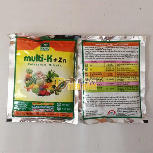 Phân bón dinh dưỡng ra hoa ,đậu quả Multi-K+Zn nhập khẩu Israel - T38