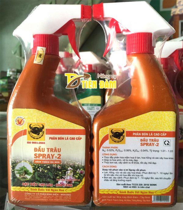 Phân bón kích ra hoa Đầu Trâu Spray-2 - T14