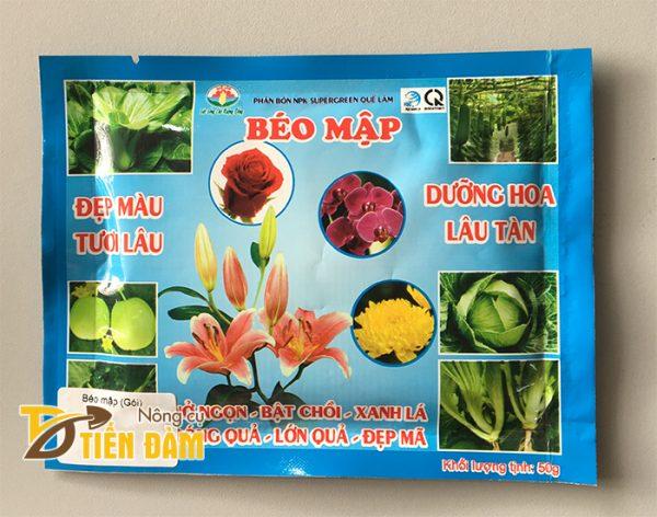 Phân bón giúp hoa tươi lâu, quả lớn NPK Béo Mập  - T47