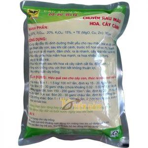 Phân bón dinh dưỡng kích thích tăng trưởng NPK 20-20-15 TE – T62