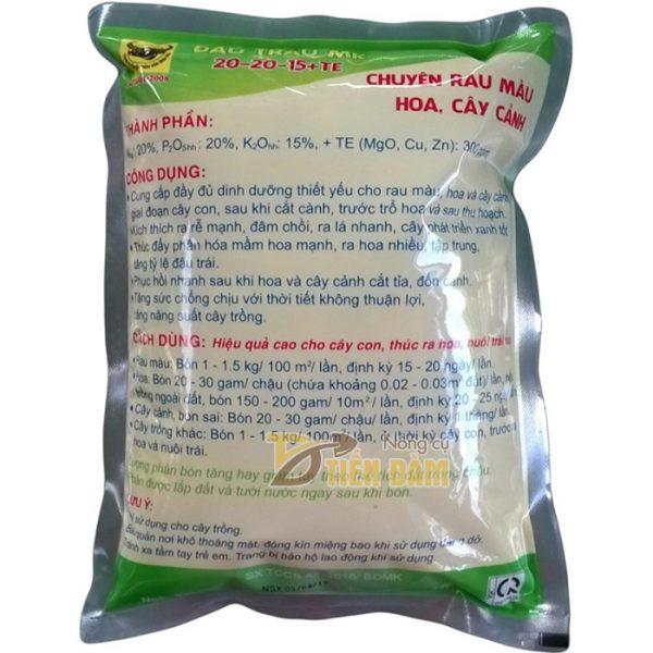 Phân bón dinh dưỡng kích thích tăng trưởng NPK 20-20-15 TE - T62