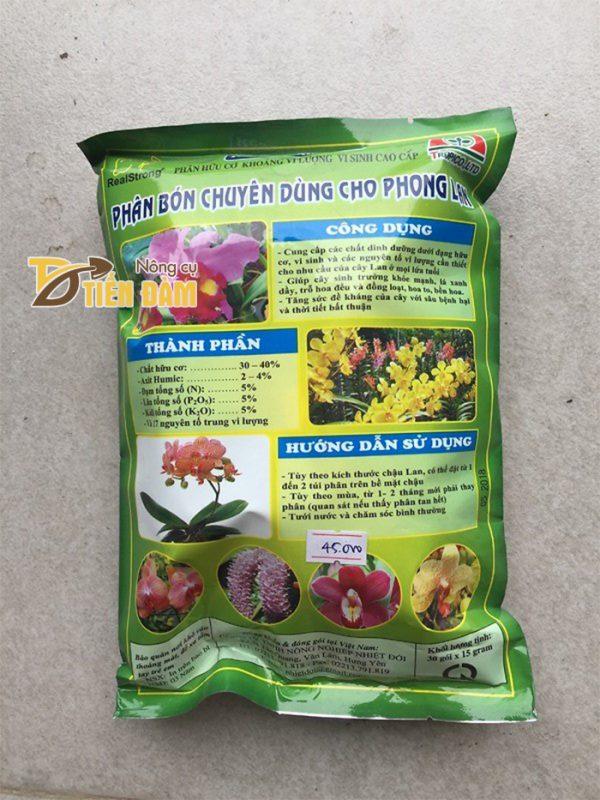 Phân bón dinh dưỡng dành cho lan mọi thời kì RealStrong 5.5.5- T22