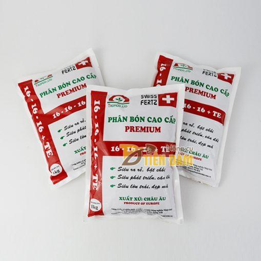 Phân bón gốc kích rễ, bật chồi mạnh Premium 16-16-16 TE - T77
