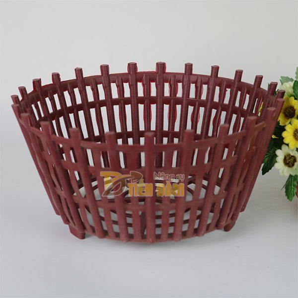 Chậu nhựa trồng lan kèm lan phụ phi 30cm - CN8