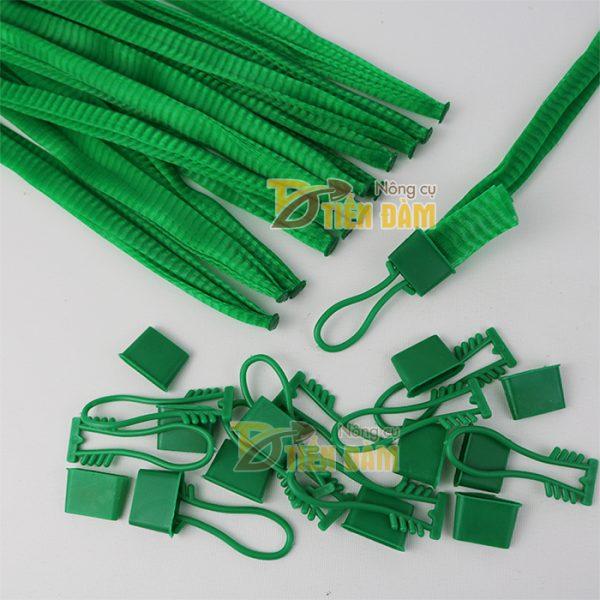 1kg Túi lưới nhựa màu xanh dài 40cm kèm khóa