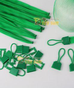 1kg Túi lưới nhựa màu xanh dài 35cm kèm khóa
