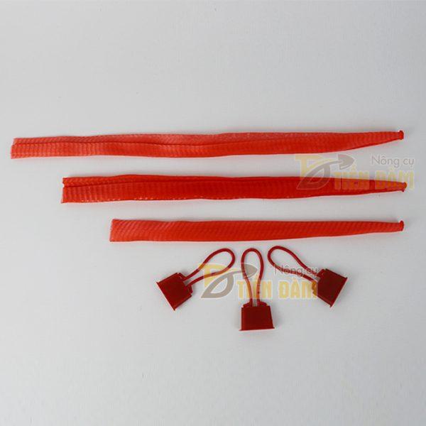 Túi lưới nhựa đỏ dài 40cm 1kg