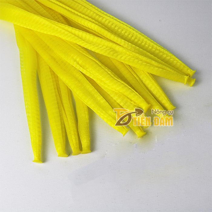 1kg Túi lưới nhựa màu vàng dài 35cm