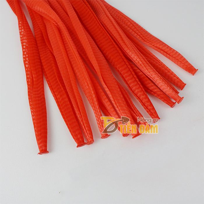 Túi lưới nhựa đỏ dài 35cm 1kg