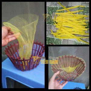 1kg Túi lưới nhựa màu vàng dài 40cm