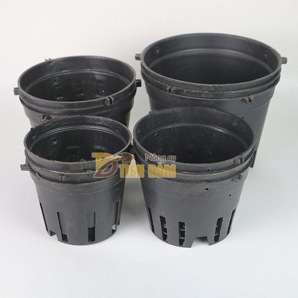 5 chậu nhựa trồng lan phi 21 màu đen - CN11