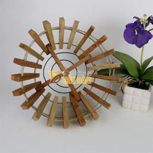 Chậu gỗ trồng lan hình quả bí phi 25cm – CG1