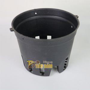 5 chậu nhựa trồng lan phi 14 màu đen - CN5