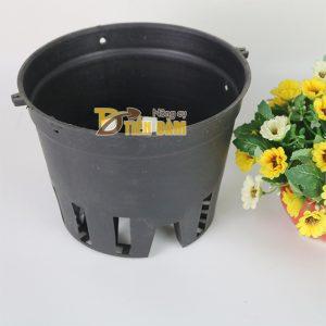5 chậu nhựa trồng lan phi 16 màu đen - CN10