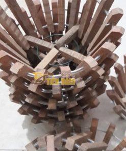 Chậu gỗ trồng lan thanh gỗ bản vuông phi 30cm – CG3
