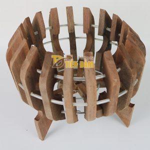 Chậu gỗ trồng lan hình quả bí phi 27cm – CG7