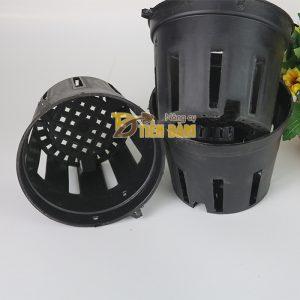5 chậu nhựa trồng lan phi 16 màu đen – CN10