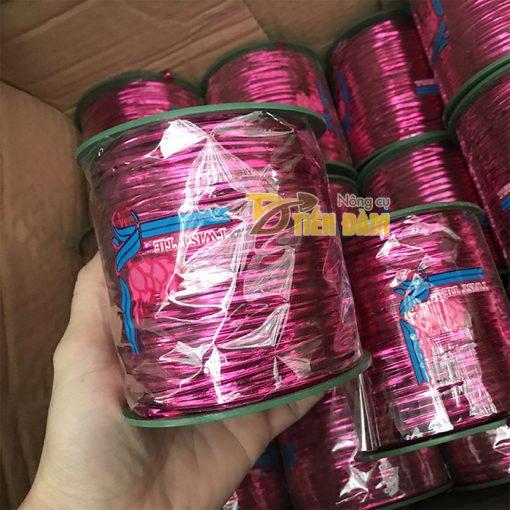 Dây buộc lan lõi kẽm bọc kim tuyến màu hồng - cuộn 300m - D53