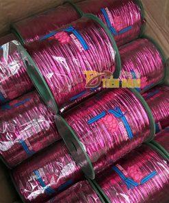 Dây buộc lan lõi kẽm bọc kim tuyến màu hồng – cuộn 300m – D53