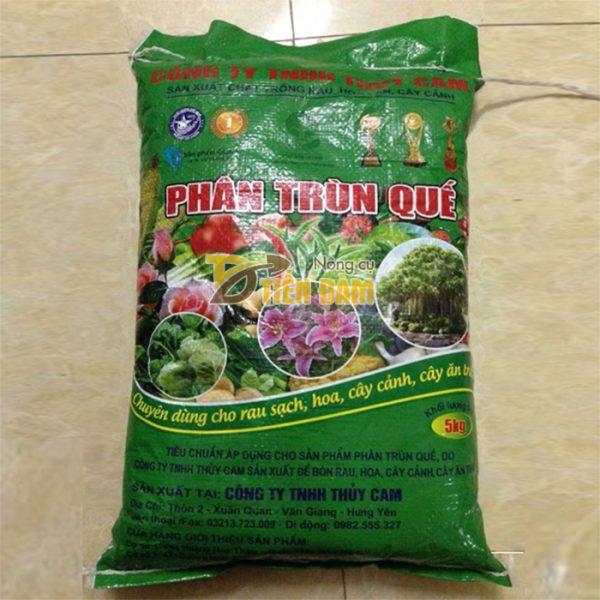 Phân bón dinh dưỡng cho cây trồng Trùn Quế - bao 5kg - VTN2