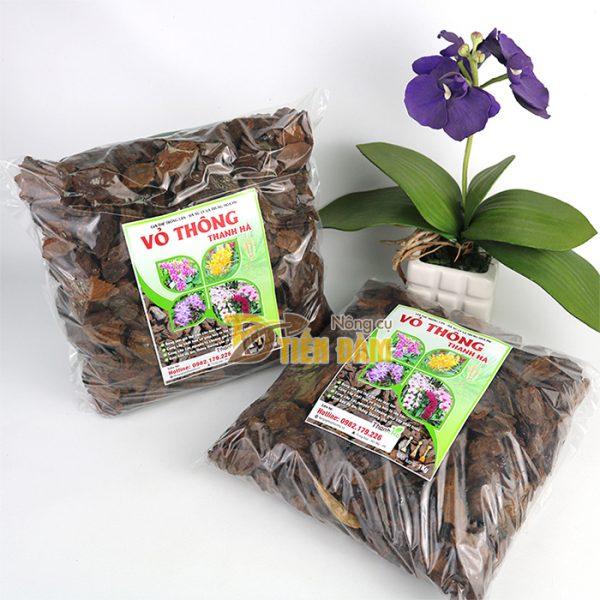 Vỏ thông trồng lan Thanh Hà kích thước 1x1cm - GT1