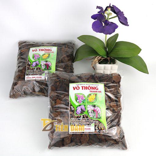 Vỏ thông trồng lan Thanh Hà kích thước 2x3cm - GT2