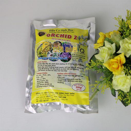 Phân bón dinh dưỡng kích hoa cho lan Orchid 2 - 500g - T110