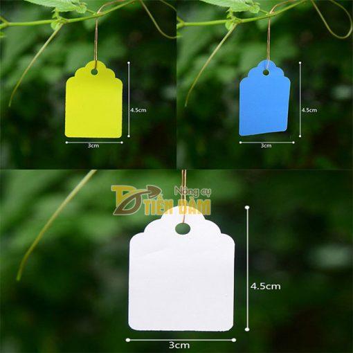 Thẻ ghi tên cây trồng có dây đeo - set 100 thẻ - VTK11