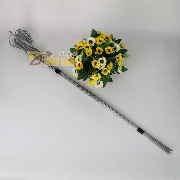10 Móc treo giỏ lan 3 dây làm bằng thép - VTK10