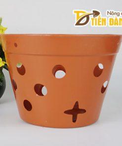 Chậu nhựa trồng lan phi 27 cm giả gốm nung – CN16