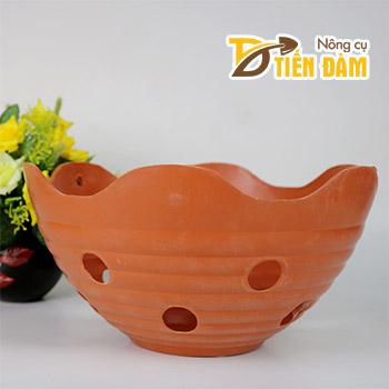 Chậu nhựa trồng lan phi 27 cm miệng lượn - CN27