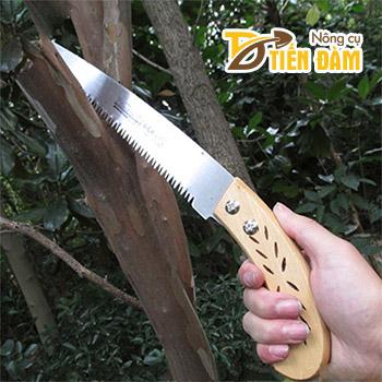 Cưa cắt cành cán gỗ sắc bén - C1