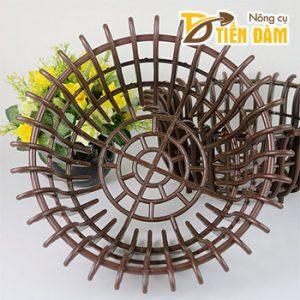 Chậu lan nhựa trồng lan phi 30cm màu nâu – CN33