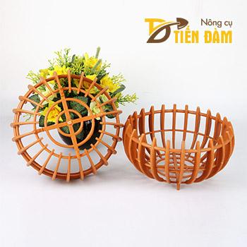 Chậu nhựa trồng lan hình bí phi 25cm - CN36