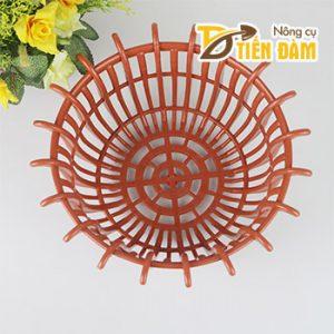 Chậu lan nhựa phi 25cm màu cam – CN30