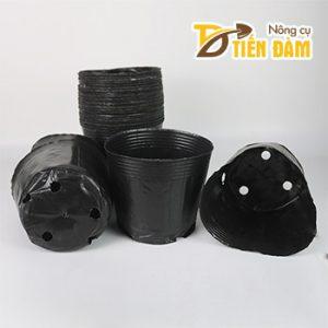 1kg Chậu ươm cây nhựa dẻo màu đen 18x16 - CH6