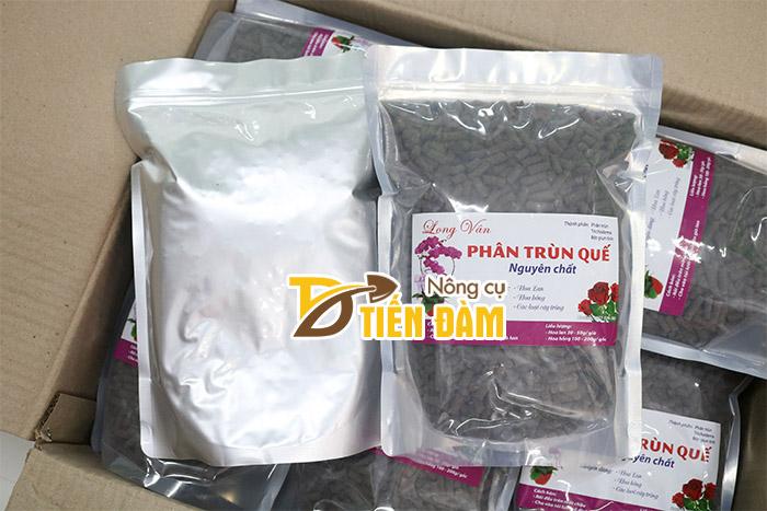 Sản phẩm trùn quế Long Vân được nhiều nhà vườn trồng lan ưa chuộng