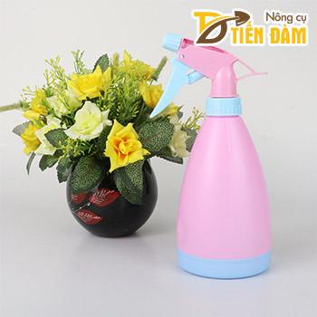 Bình phun sương tưới cây màu hồng 0.5lit - D92
