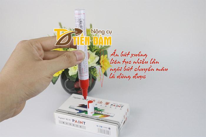Bút đánh dầu cây trồng ghi được trên mọi chất liệu như gỗ, kính, giấy,...