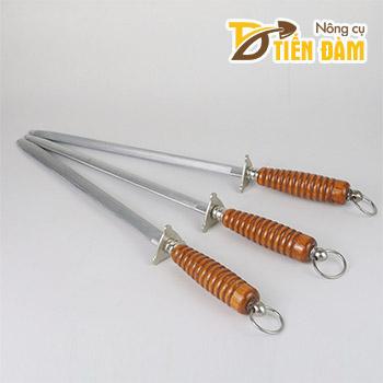 Cây mài dao cán gỗ thân dẹt – D97