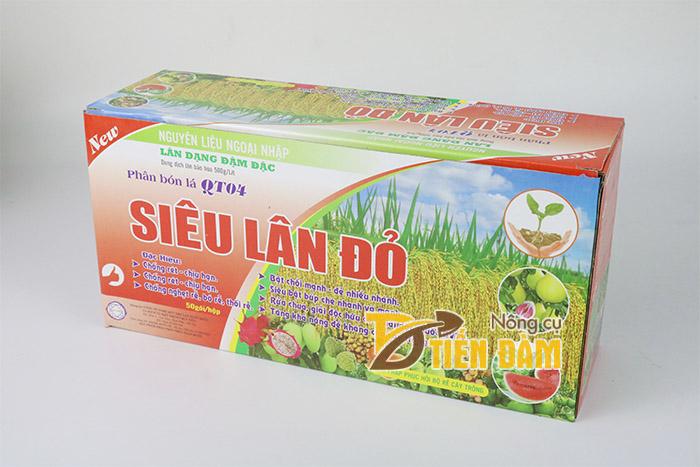 Siêu lân đỏ được sản xuất từ nguyên liệu nhập ngoại
